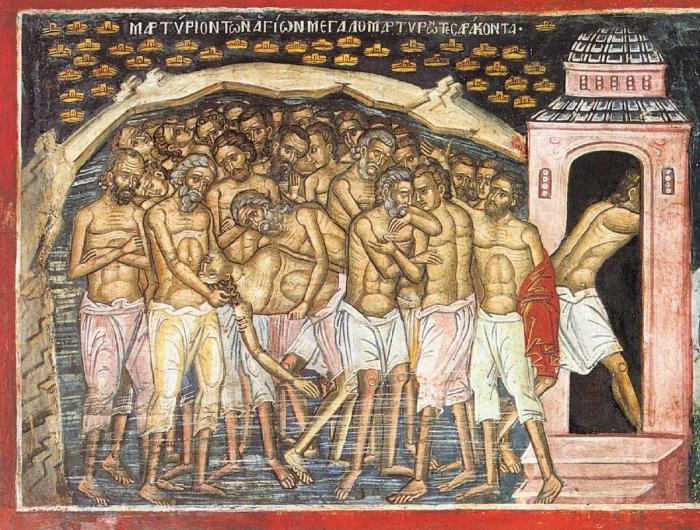 Los 40 mártires de Sebaste – 10 marzo