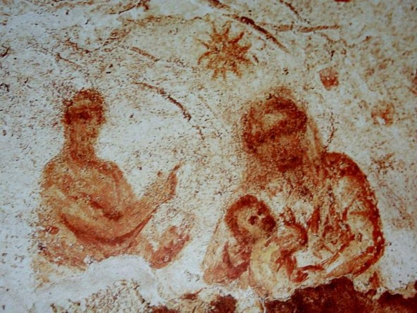 Los interesantes frescos de la catacumba de Santa Priscila 2