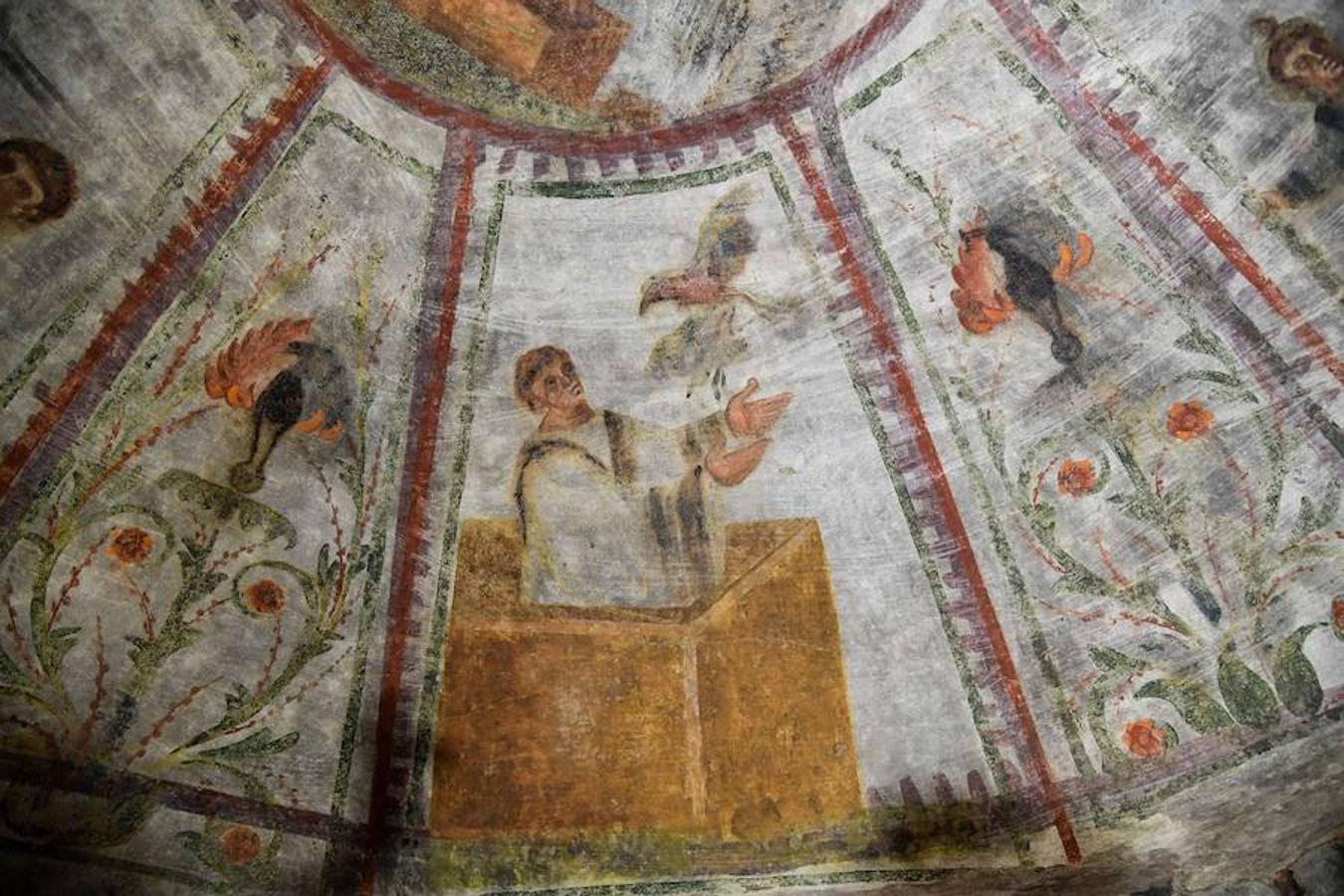 El láser devuelve el esplendor a los frescos de las Catacumbas de Domitila - #Roma 1