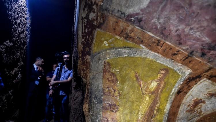 El láser devuelve el esplendor a los frescos de las Catacumbas de Domitila - #Roma 4