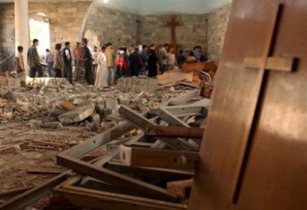 Iglesia en construcción volada por los aires al este de Mosul (Iraq) 1