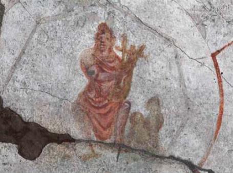 Nuevo hallazgo pictórico en las catacumbas de San Calixto en Roma 2