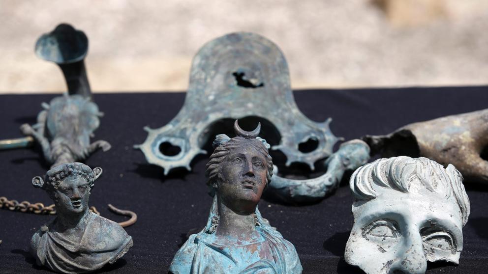 Cesarea - Descubren un pecio con restos y monedas de hace 1.600 años en aguas de Israel 1