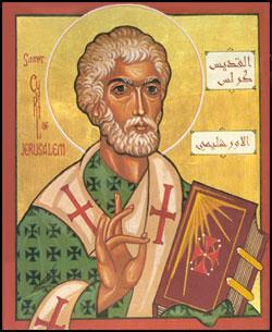 San Cirilo de Jerusalén -18 marzo 1