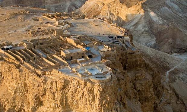 """Masada, también llamada """"la fortaleza"""", es uno de los lugares históricos de Israel 4"""