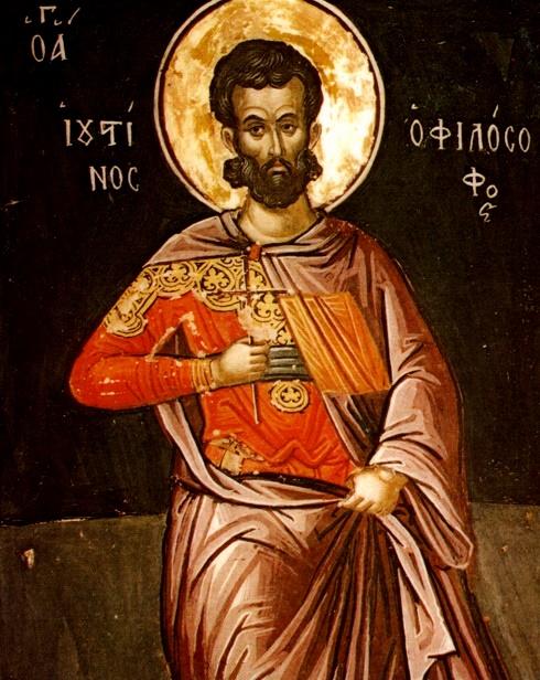 San Justino, Filósofo mártir el año 165 - 1 de junio 1