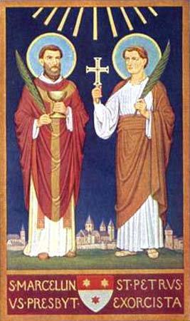 Santos Marcelino y Pedro, mártires - 2 de junio 2
