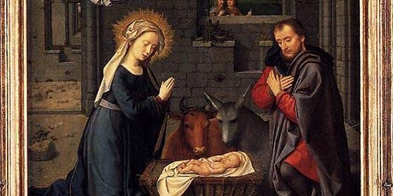 La mula y el buey junto a Jesús en el pesebre - Joseph Ratzinger 1