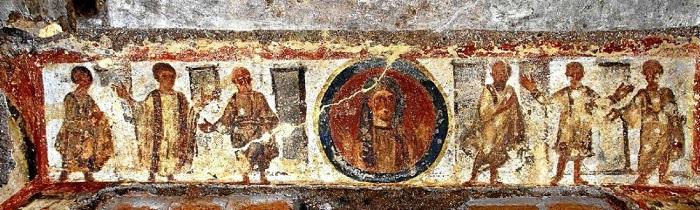 Los interesantes frescos de la catacumba de Santa Priscila 1