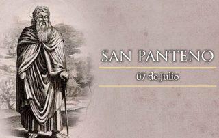 San Panteno, director de la escuela catequética de Alejandría - 7 de julio 1