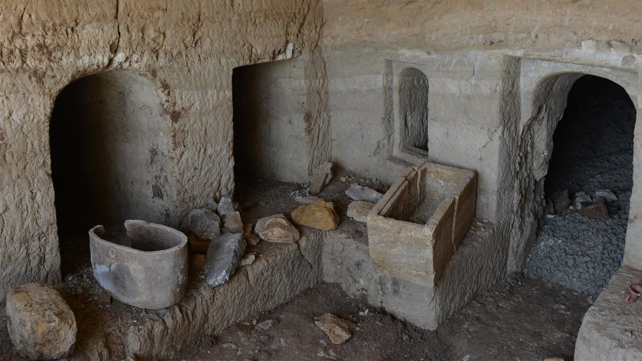 Hallada una cueva funeraria romana durante unas obras en Tiberíades(Israel) 1