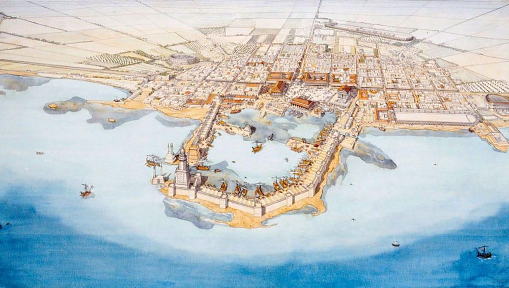 La ciudad antigua de Cesarea desentierra el templo pagano de Herodes 1