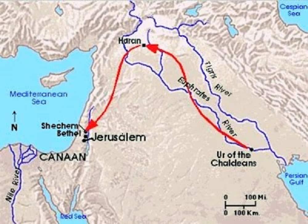 Abraham sale de Ur de los Caldeos hacía Canaán 1