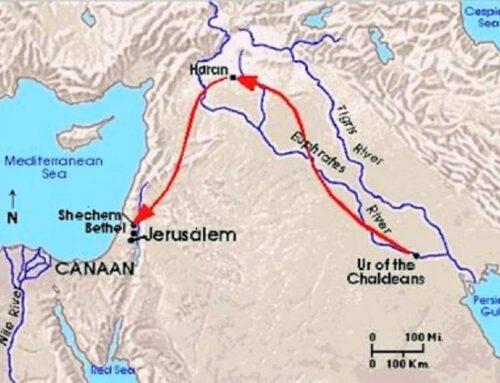 Abraham sale de Ur de los Caldeos hacía Canaán