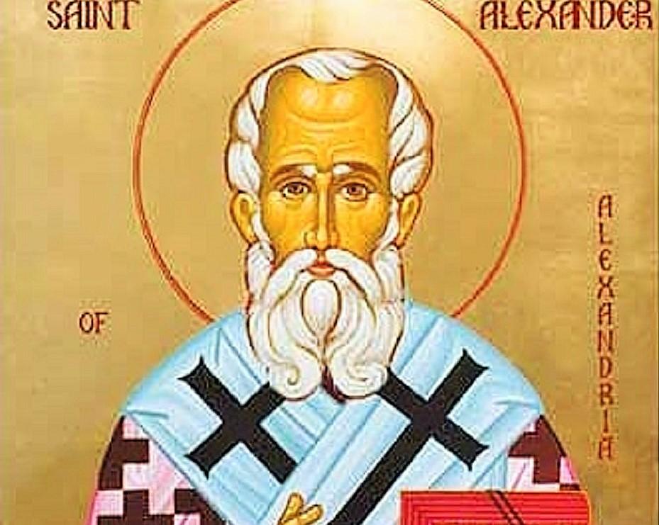 San Alejandro, patriarca de Alejandría  - 26 de febrero 1