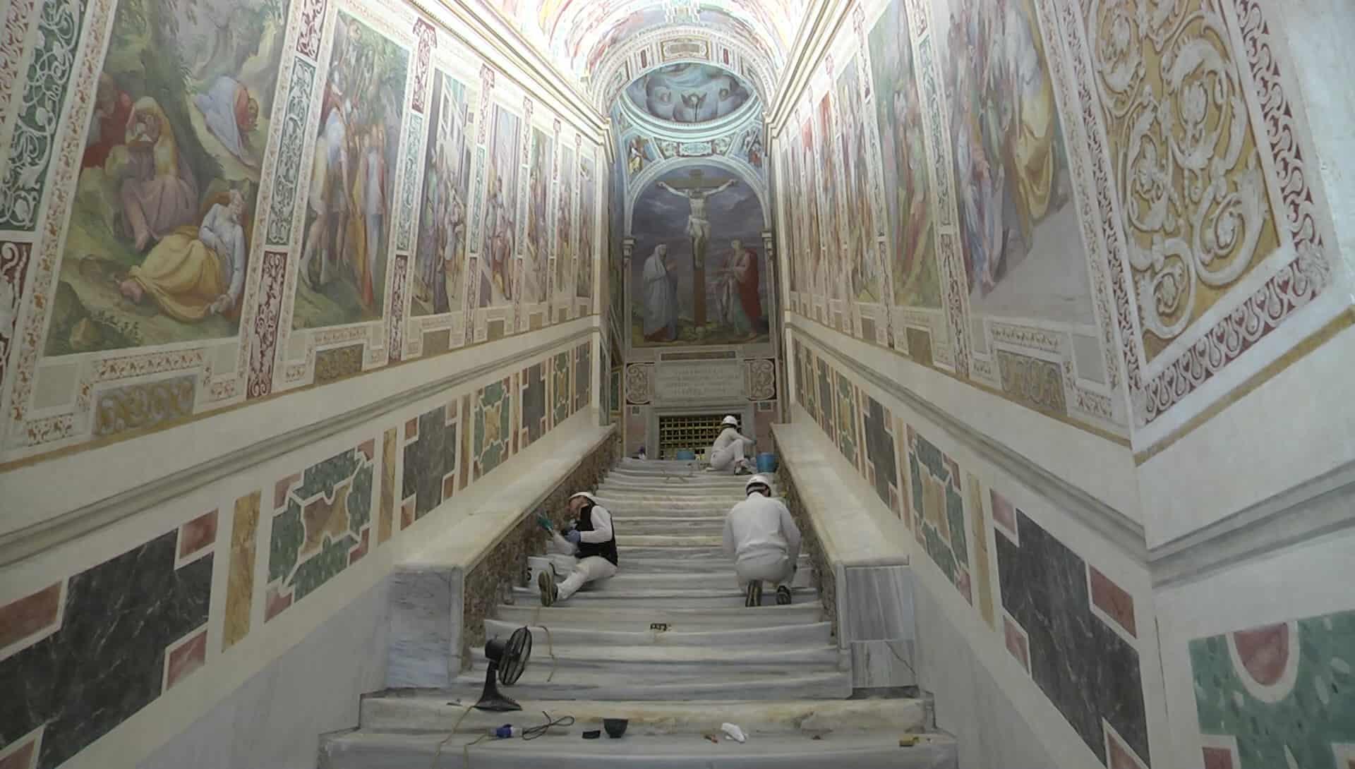 La Scala Santa mostrará los escalones originales que se veneran en su basílica 1