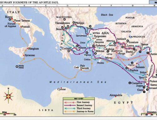 Guía de los viajes de san Pablo según el mapa de hoy