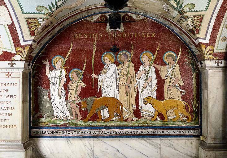 MÁRTIRES DE LYON († 177) - su fiesta se celebra el 2 de junio 1