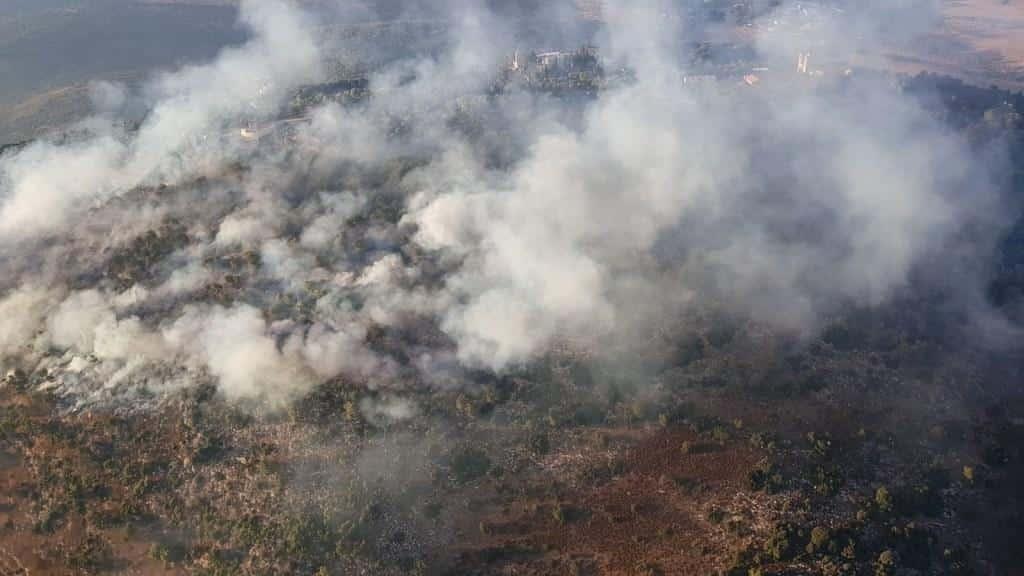 Monte Tabor - Un incendio en la ladera este del monte 1