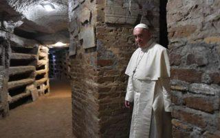 El Papa en las Catacumbas de Priscila - «hoy hay más cristianos perseguidos que en los primeros siglos» 2