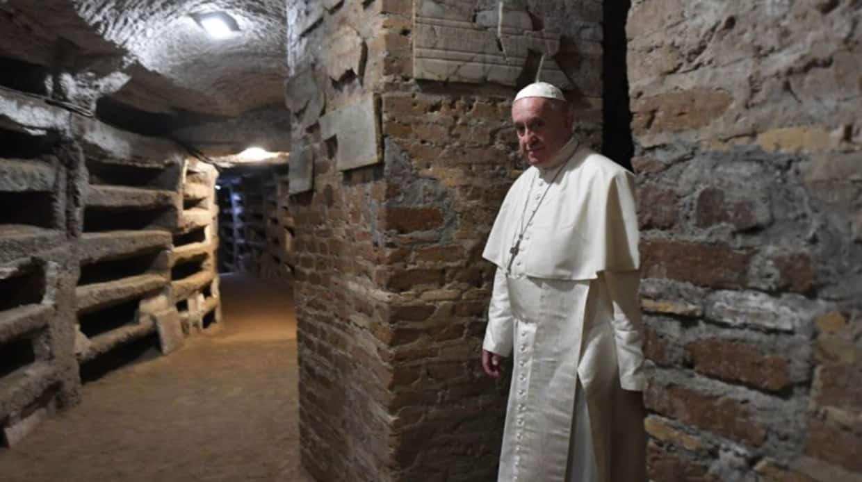 El Papa en las Catacumbas de Priscila - «hoy hay más cristianos perseguidos que en los primeros siglos» 1