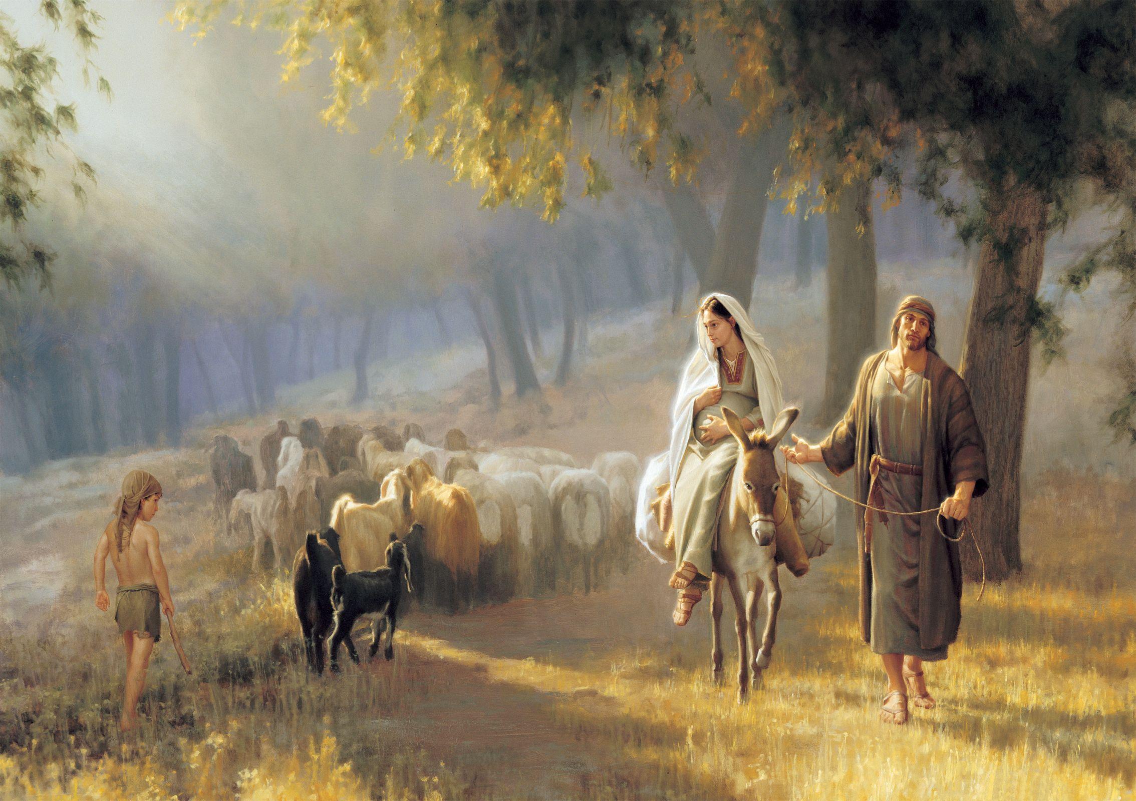 La Virgen y San José en el Camino de Belén 1