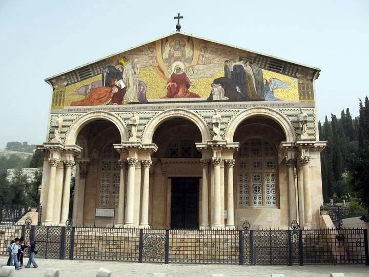 La Basílica de la Agonía, o de Todas las Naciones - Getsemaní,  Jerusalén 1