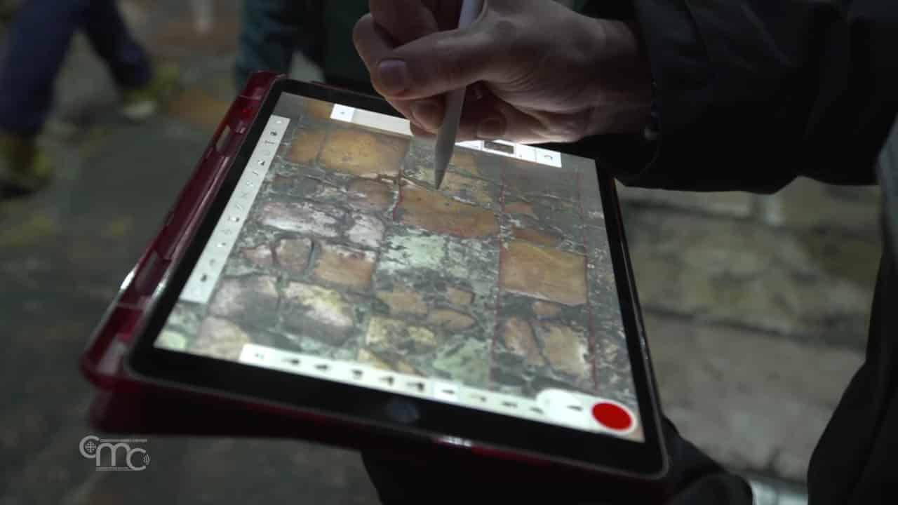 Mapeo del pavimento del Santo Sepulcro - Piedra a piedra 1