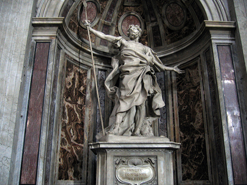 Longinos traspasó con su lanza a Jesús en la cruz - Soldado romano 1