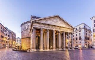 Descubren ante el Panteón de Roma pavimento de una plaza de época imperial 3