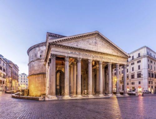 Descubren ante el Panteón de Roma pavimento de una plaza de época imperial