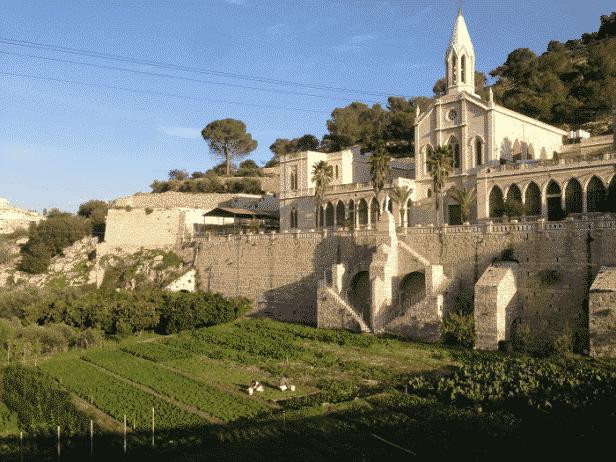 El santuario de Santa María, Huerto cerrado - Tierra Santa 1