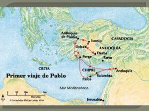 Los viajes de san Pablo - Entre los años 45 al 66 2