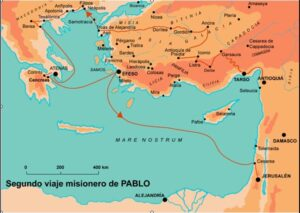 Los viajes de san Pablo - Entre los años 45 al 66 3