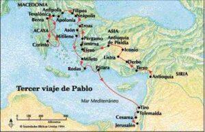 Los viajes de san Pablo - Entre los años 45 al 66 5