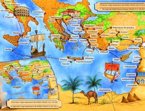 Los viajes de san Pablo – Entre los años 45 al 66