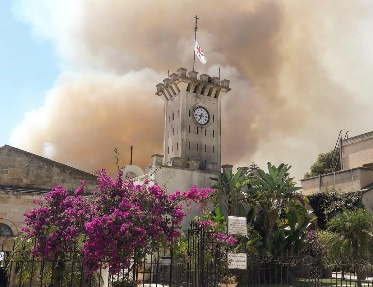 Fuego en el Monte Tabor - nuevo incendio un año después 1