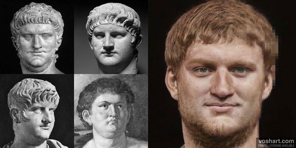 El rostro de los emperadores romanos, reconstruido a partir de sus esculturas 1