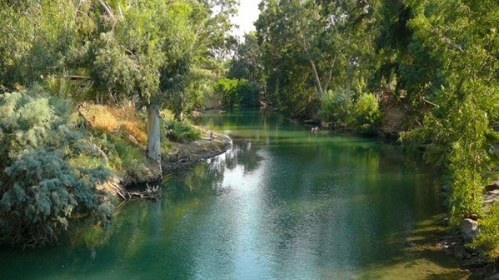 El Río Jordán - lugar del Bautismo de Jesús 1