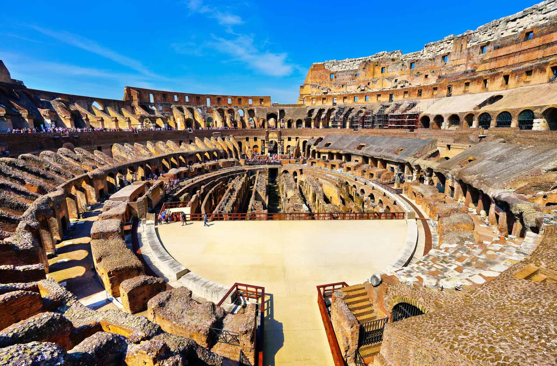 Anuncian la reconstrucción de la arena del Coliseo romano 1