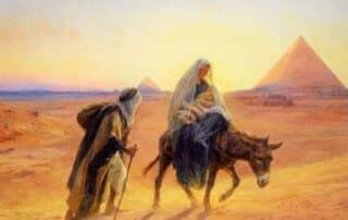 La huida a Egipto de Jesús, María y José 2