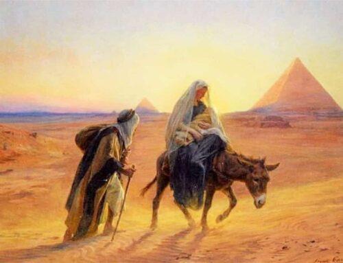 La huida a Egipto de Jesús, María y José
