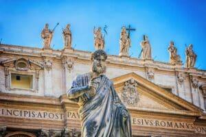 San Pedro fija su sede en Roma como cabeza de la Iglesia - año 42 o 44 2