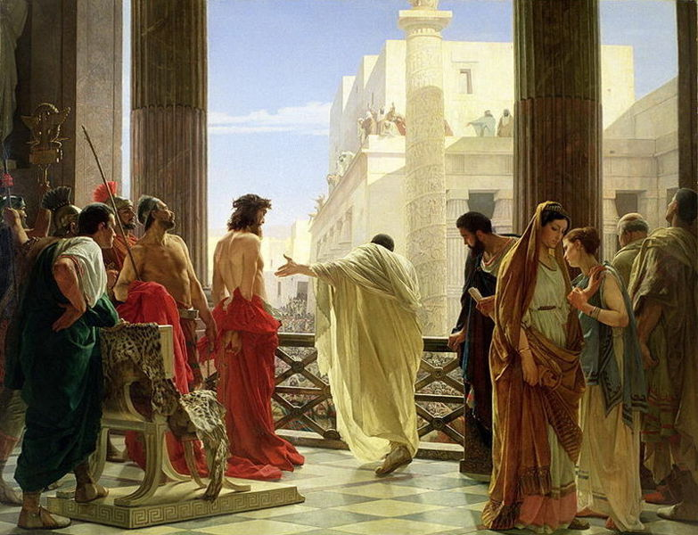 Condena de Jesús por Pilatos