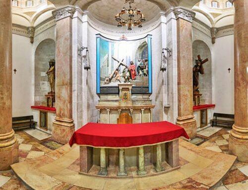 """El """"Litóstrotos"""", lugar donde Jesús fue condenado- Iglesia de la Condenación"""
