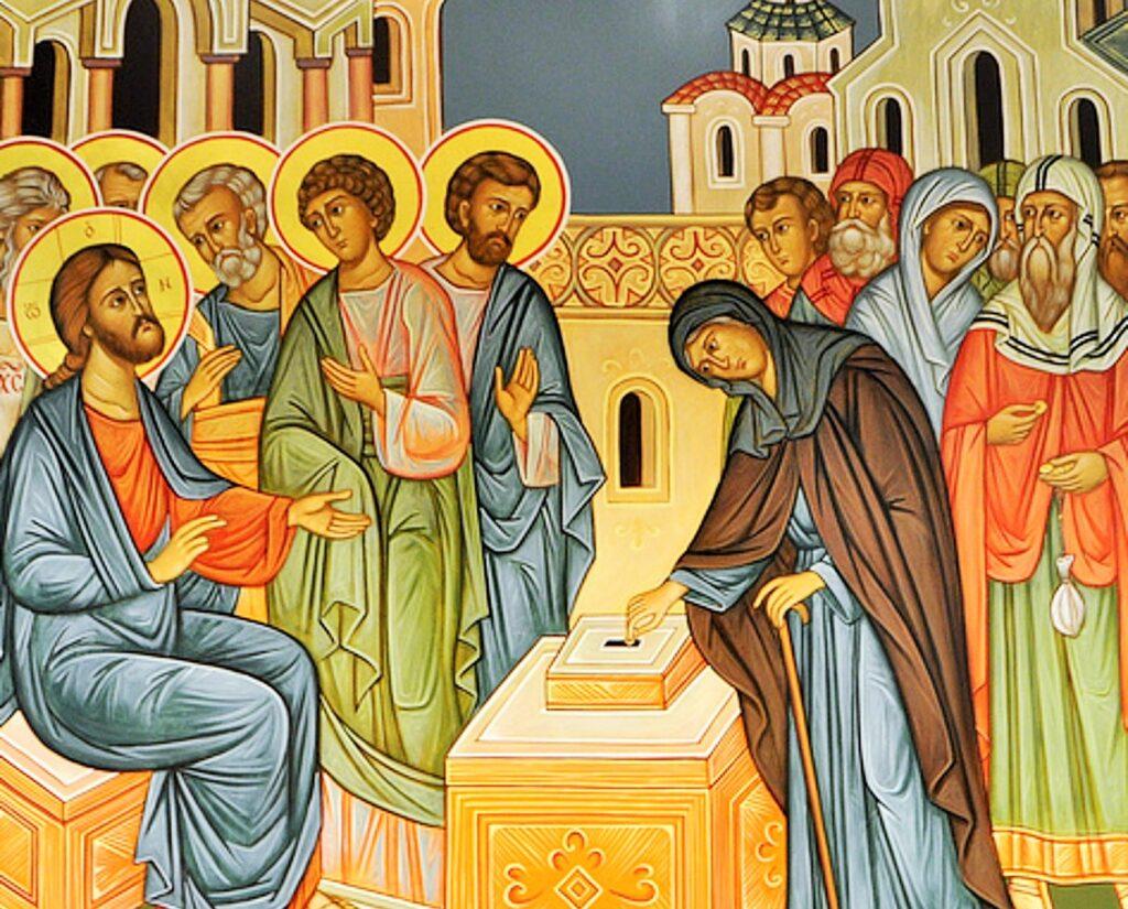 La ofrenda de la viuda pobre en el Templo - Martes Santo 1