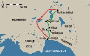 Primer viaje misionero de San Pablo - de Perge a Antioquía de Pisidia 4