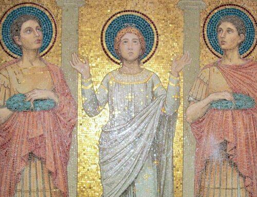 Santos Tiburcio, Valeriano y Máximo, mártires en la via Appia  – 14 de abril